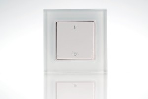 wall-mounted dimmer remote control, 1 zone, pushbutton