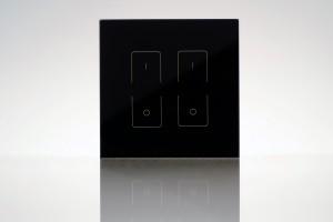Touch-Dimmer Fernbedienung, 2 Zonen, schwarz