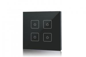 Touch-Dimmer Fernbedienung, 4 Zonen, schwarz