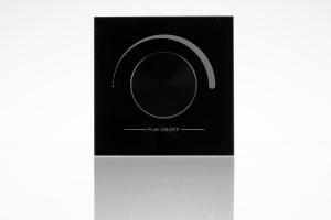 Wand-Dimmer mit Drehknopf, 1 Zone, schwarz