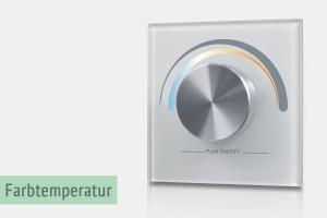Wandsteuerung für Helligkeit & Farbtemperatur (LK55)