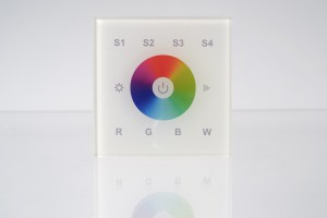 RGBW Wandsteuerung, 1 Zone, Touch-Bedienfeld