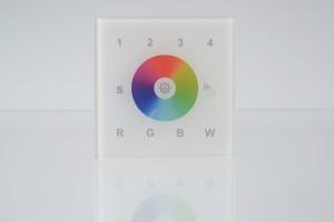 RGBW Wandsteuerung, 4 Zonen, Touch-Bedienfeld