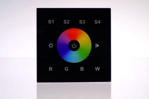 RGBW Wandsteuerung, 1 Zone, Touch-Bedienfeld, schwarz