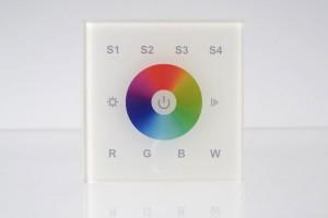 RGBW Wandsteuerung, 1 Zone, Touch-Bedienfeld, weiß