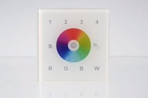 RGBW Wandsteuerung, 4 Zonen, Touch-Bedienfeld, weiß