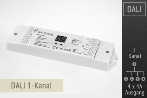 DALI-LED-Dimmer 1-Kanal, 4x4A