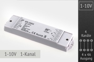1-10V RGBW-LED-Controller 4-Kanal, 4x4A