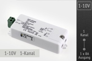 1-10V LED-Dimmer 1-Kanal, 1x8A
