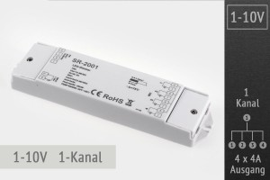 1-10V LED-Dimmer 1-Kanal, 4x4A