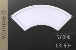 LED-Panel Viertelkreis, 28x10cm, 7W, 475lm, 3.000K warmweiß