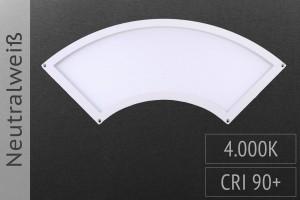 LED-Panel Viertelkreis, 28x10cm, 7W, 490lm, 4.000K neutralweiß