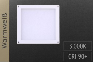 LED-Panel Quadrat, 10x10cm, 3W, 140lm, 3.000K warmweiß