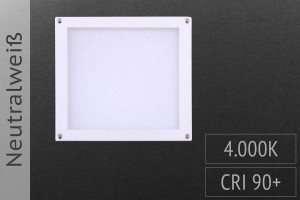 LED-Panel Quadrat, 10x10cm, 3W, 150lm, 4.000K neutralweiß