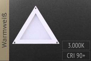 LED-Panel Dreieck, 10x10cm, 2W, 100lm, 3.000K warmweiß