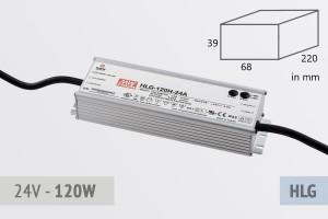 Netzteil 24V - 5A - 120 Watt, extrem leise