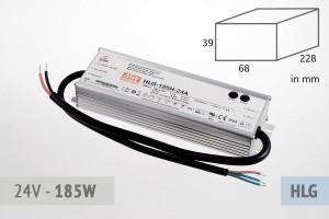 Netzteil 24V - 7.8A - 185 Watt, extrem leise