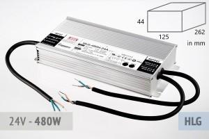 Netzteil 24V - 20A - 480 Watt, extrem leise