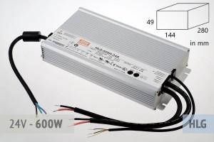 Netzteil 24V - 25A - 600 Watt, extrem leise