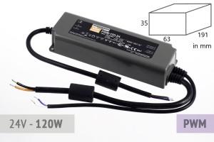 Dimmbares PWM Schaltnetzteil 24V - 5A - 120 Watt