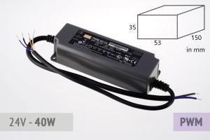 Dimmbares PWM Schaltnetzteil 24V - 1.7A - 40 Watt