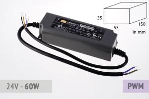Dimmbares PWM Schaltnetzteil 24V - 2.5A - 60 Watt