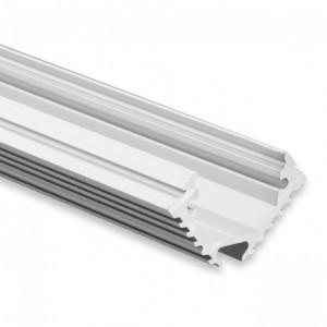 12mm LED-Eckprofil 45° PL11, 2m, silber