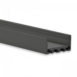 24mm LED-Aufsatz-Profil PN4, 2m, schwarz