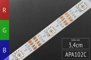 LED-Flexband digital APA102C 5m Rolle, 30 Pixel/m