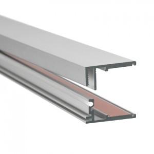 8-10mm LED-Glas-Profil Glaskante, silber, 2m