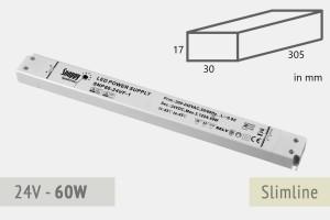 Slimline Netzteil 24V - 2.5A - 60 Watt