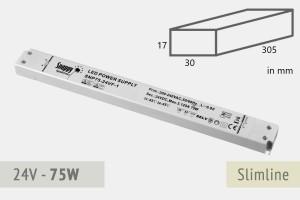 Slimline Netzteil 24V - 3.2A - 75 Watt