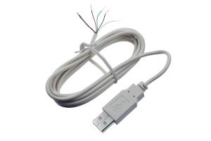 USB-Kabel zur Spannungsversorgung der WordClock