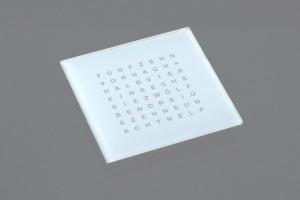 Frontplatte Wordclock Plexi weiß 30mm