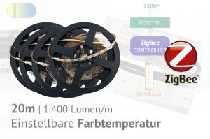 ZigBee-CCT-LED-Set: 20 Meter