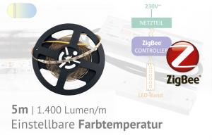 ZigBee-CCT-LED-Set: 5 Meter