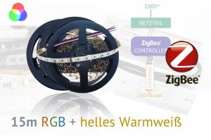 ZigBee RGB+W LED-Set: 15 Meter