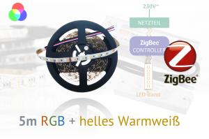 ZigBee RGB+W LED-Set: 5 Meter