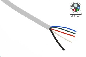 RGBW-Kabel, max. 10A, weiß, halogenfrei