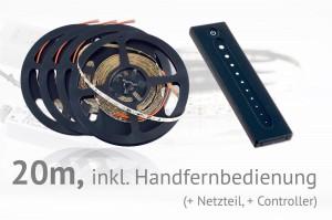 LED-Set: 20 Meter, mit Handfernbedienung