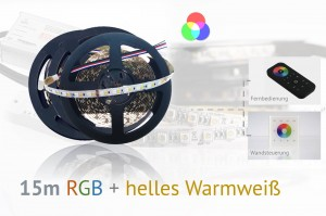 RGB+WW LED-Set: 15 Meter