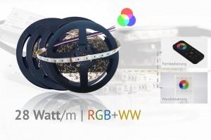 Set für helle Hauptbeleuchtung plus Farbeffekte - RGB+WW