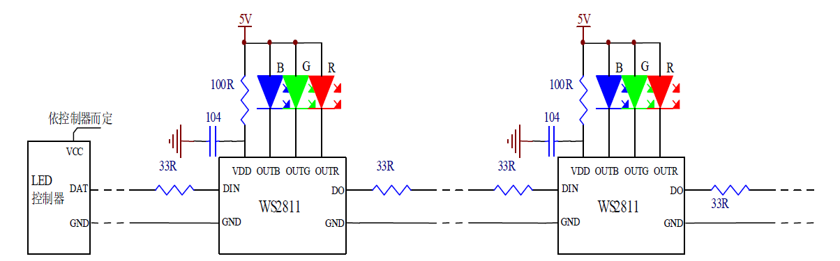 Ws2811 Rgb Led Pixel Treiber Led437