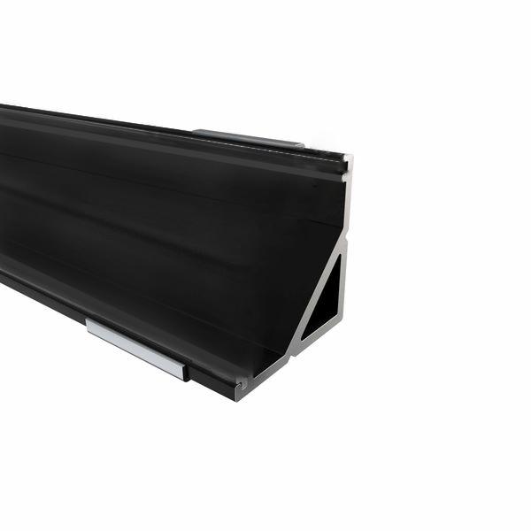 12mm LED-Eckprofil W12, 2m, schwarz