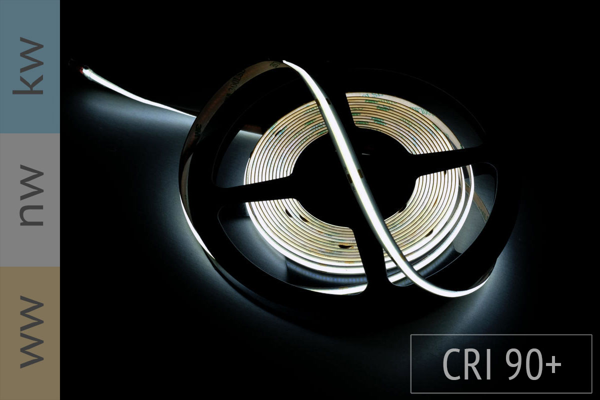 Neuheit: COB LED-Streifen - keine LEDs sichtbar - CRI90 - 14W/m - 1.300 lm/m