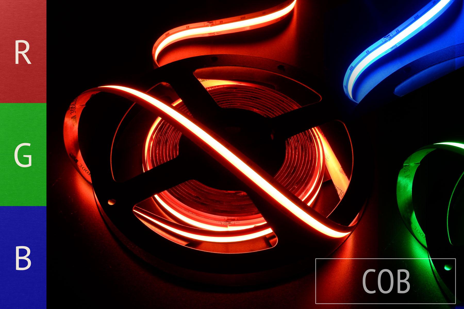 Neuheit: RGB-COB-LED-Streifen ohne sichtbare Einzel-LEDs - 24V