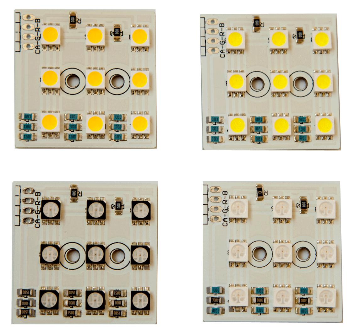 LED-Cluster 3x3 fertig bestückt