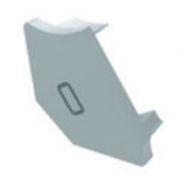 Endkappe für H30/60° weiss, links