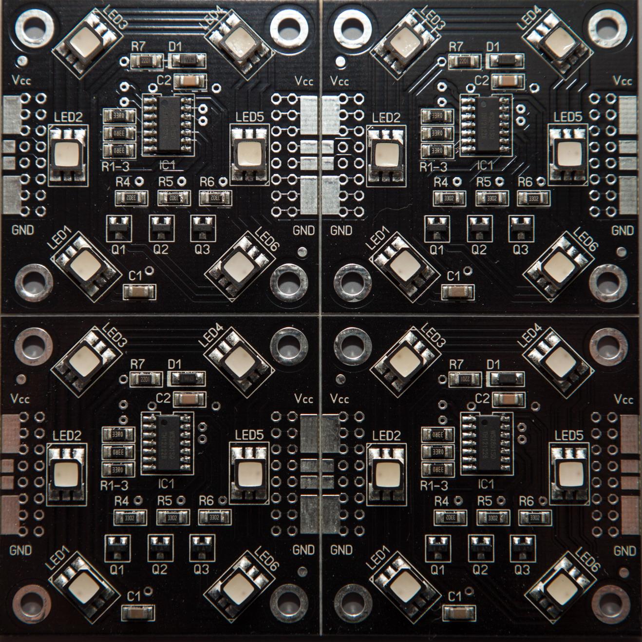 RGB-Pixel 50x50mm 6 LED inkl. Wannen/Kabel