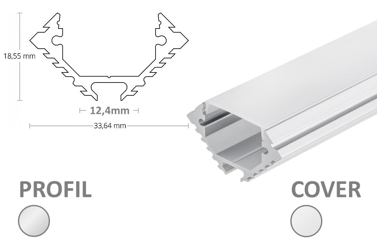2m LED-Eckprofil 45° PL11